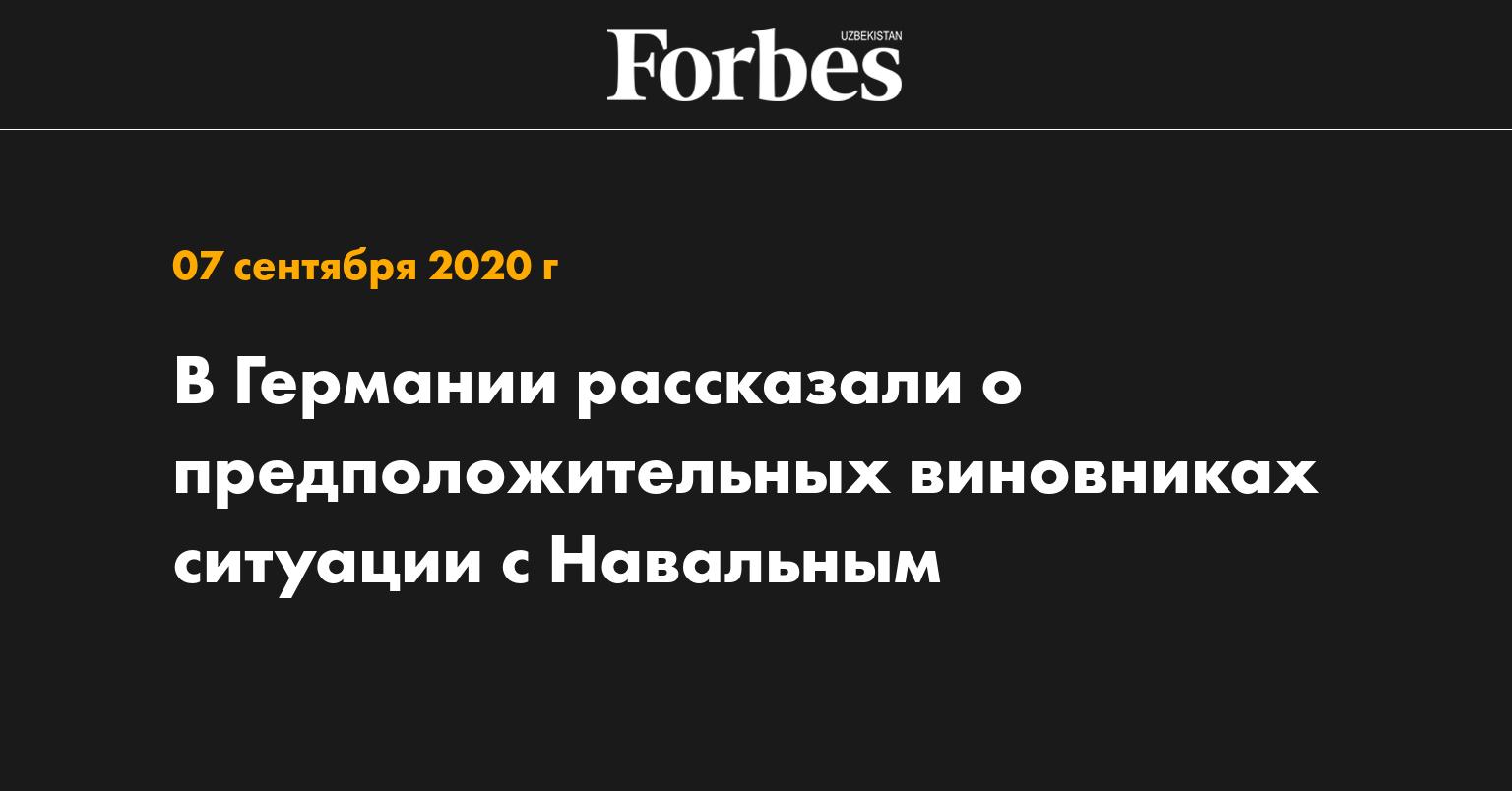 В Германии рассказали о предположительных виновниках ситуации с Навальным