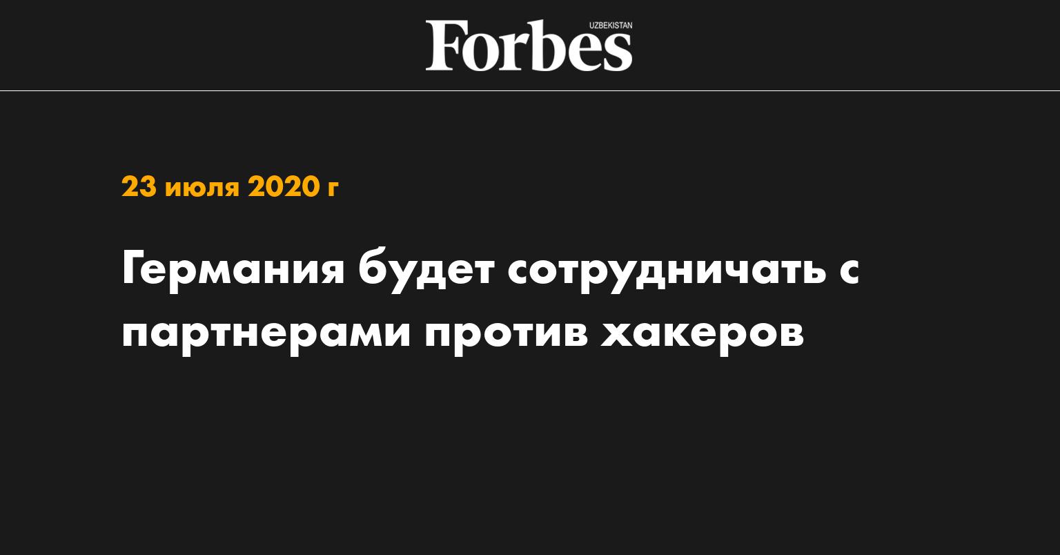 Германия будет сотрудничать с партнерами против хакеров